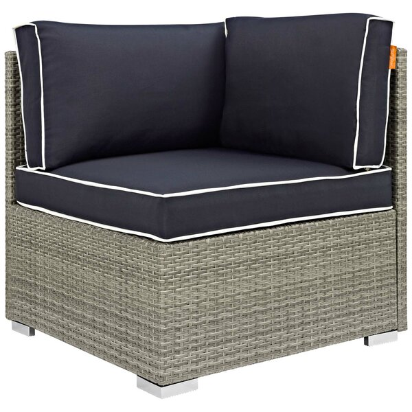 Heinrich Outdoor Patio Chair with Cushion by Highland Dunes