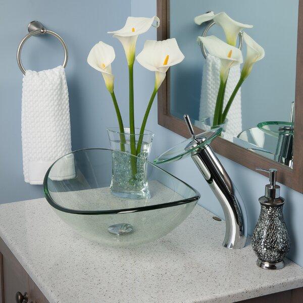Chiaro Slipper Oval Vessel Bathroom Sink with Faucet by Novatto