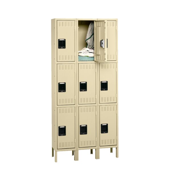 3 Tier 2 Wide Employee Locker by Tennsco Corp.