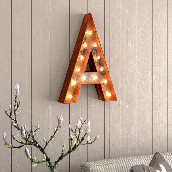 Alphabet Letter Steel Marquee Sign Wall Décor by Laurel Foundry Modern Farmhouse