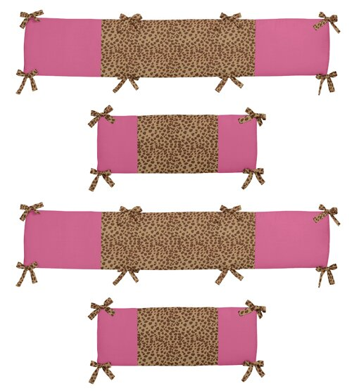 Cheetah Girl Crib Bumper by Sweet Jojo Designs