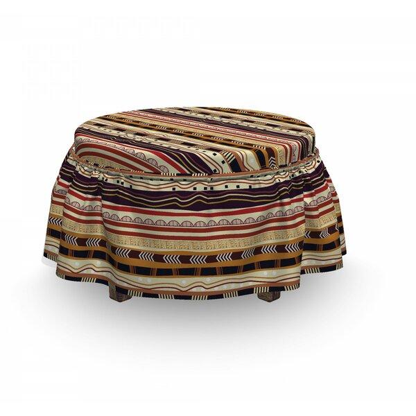 Tribal Arrow Motifs 2 Piece Box Cushion Ottoman Slipcover Set By East Urban Home