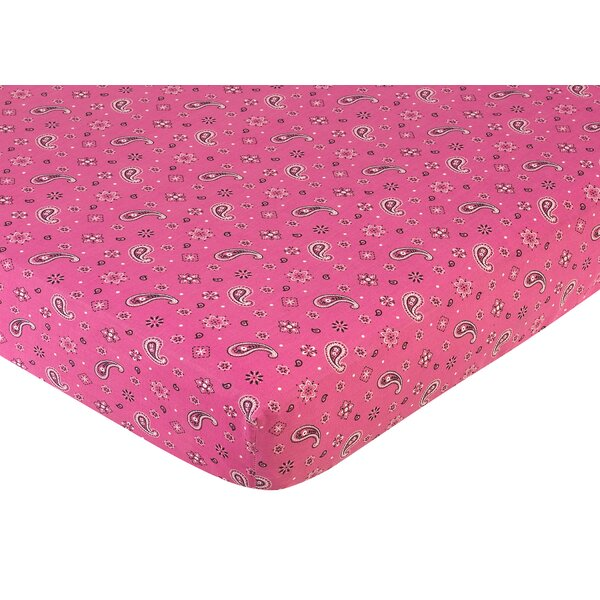 Cowgirl Bandana Fitted Crib Sheet by Sweet Jojo Designs