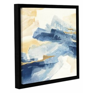 Gilded Indigo I Framed Painting Print on Wrapped Canvas by Mercer41