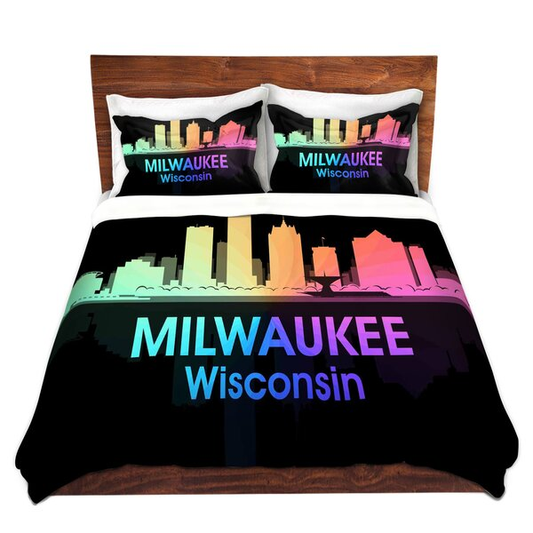 City V Milwaukee Wisconsin Duvet Cover Set