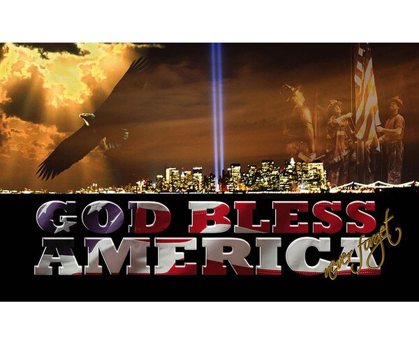 God Bless America Sublimated Mat by Team Sports America