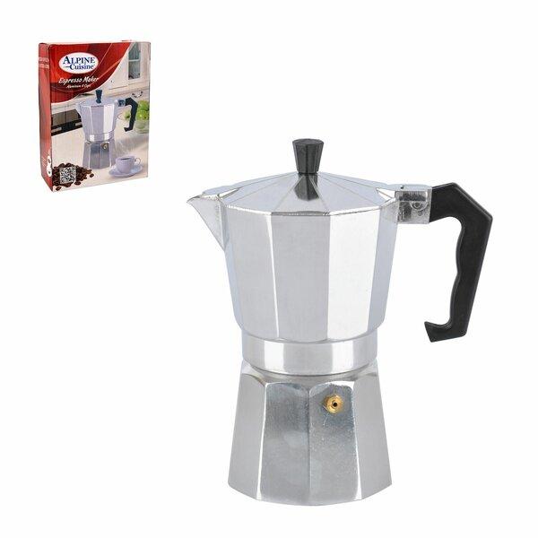 9 Cup Aluminum Espresso Maker by Alpine Cuisine