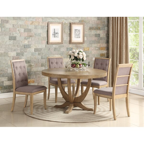 Adkinson 5 Piece Solid Wood Dining Set by One Allium Way