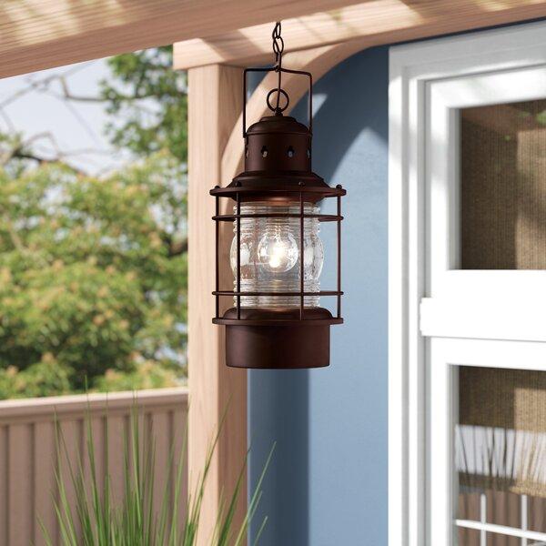 Bonaventure 1-Light Outdoor Hanging Lantern by Beachcrest Home