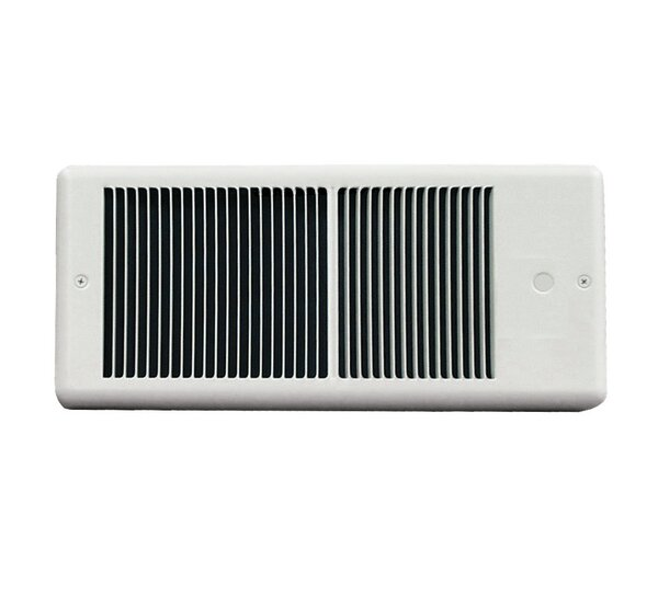 Low Profile Wall Insert Electric Fan Heater with Wall Box by TPI