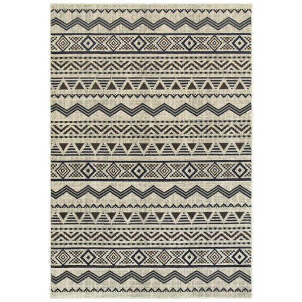 Fletcher Tribal Lines Gray Area Rug by Union Rustic