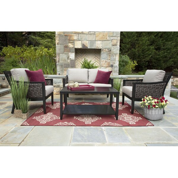Rodrigo 4 Piece Sunbrella Sofa Set with Cushions by Bloomsbury Market