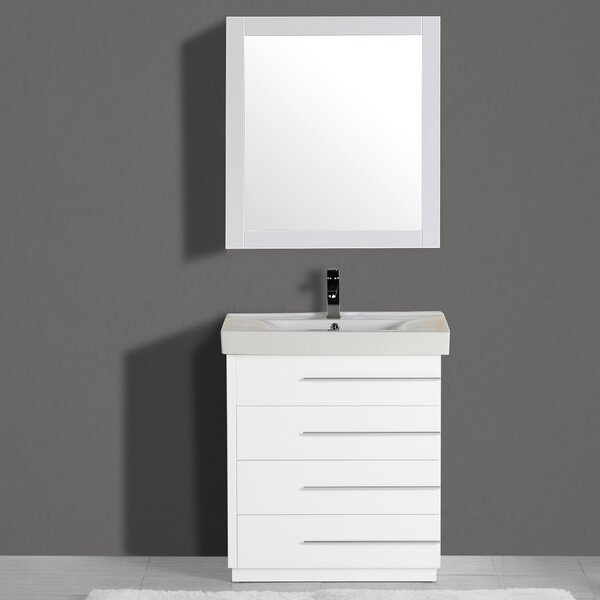 Carlo 30 Single Vanity Set with Mirror by Adornus