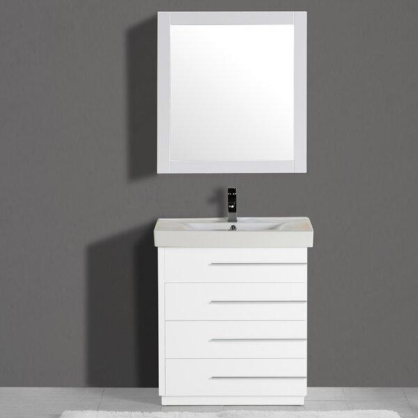 Carlo 30 Single Vanity Set with Mirror by Adornus