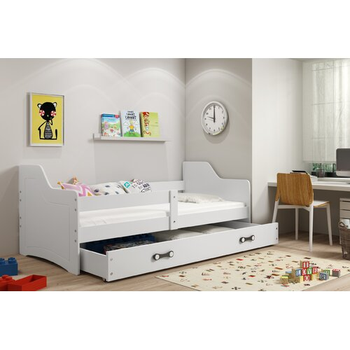 Funktionsbett Sheridan mit Schublade| 80 x 160 cm Harriet Bee Farbe (Bettgestell): Weiß | Schlafzimmer > Betten > Funktionsbetten | Harriet Bee
