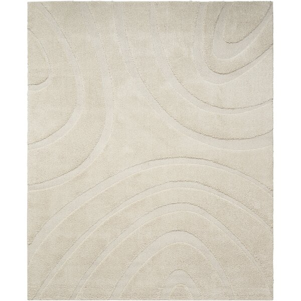 Tonette Abstract Cream Area Rug by Latitude Run