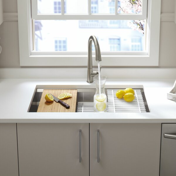 Prolific 33 L x 17-3/4 W x 11 Undermount Single Bowl Kitchen Sink with Accessories by Kohler