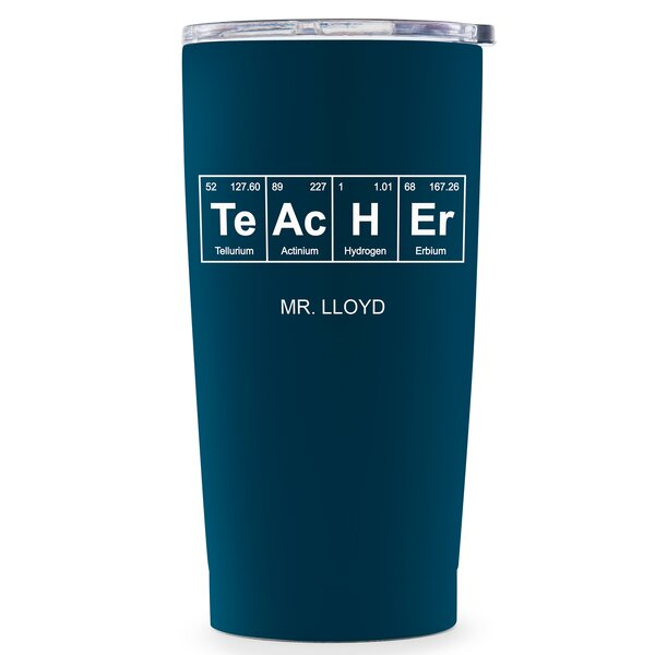 Stange Personalized Periodic Table Teacher Printing Travel Mug by Ebern Designs