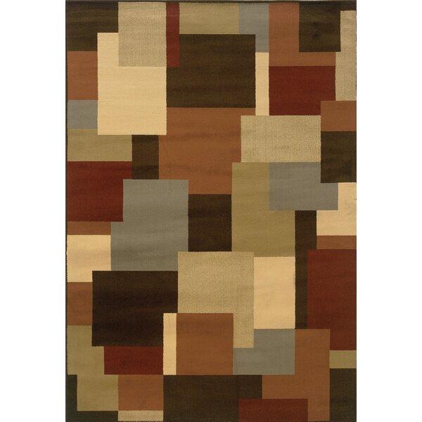 Brentford Geometric Brown/Beige Area Rug by Andover Mills