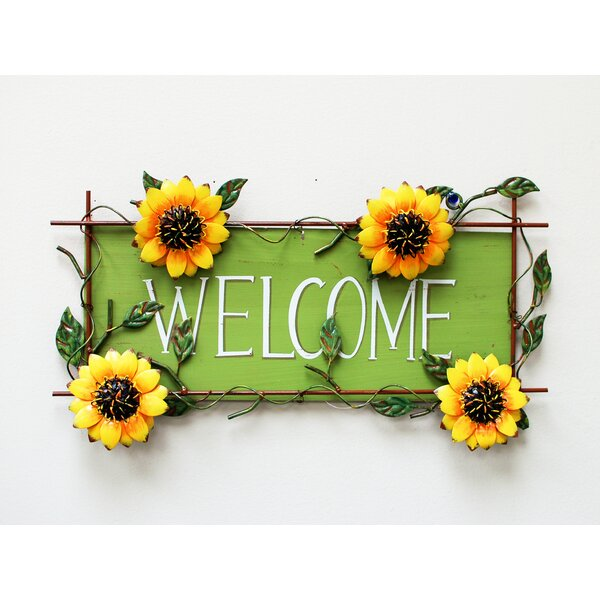 Attractiondesignhome Sunflower Welcome Sign Wall D 233 Cor