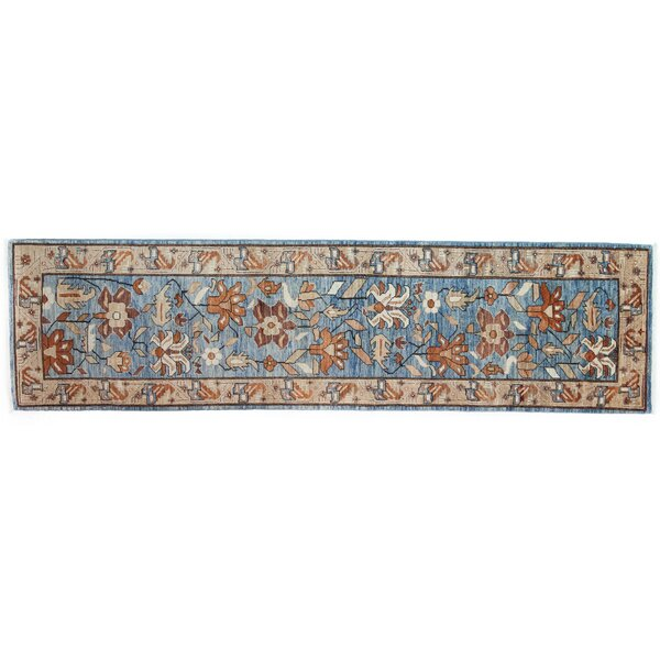 One-of-a-Kind Serapi Hand-Knotted Blue Area Rug by Darya Rugs