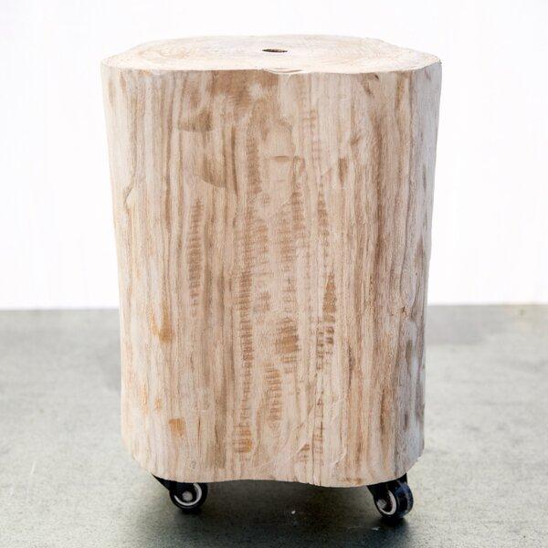 Burel Wood Stool by Trent Austin Design