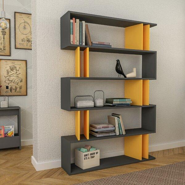 Ezra Modern Geometric Bookcase By Brayden Studio