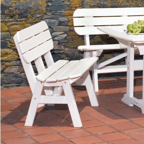 Portsmouth Plastic Garden Bench by Seaside Casual