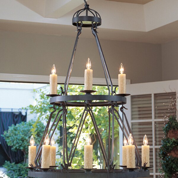 Lakeshore 12-Light Candle Style Tiered Chandelier By 2nd Ave Design