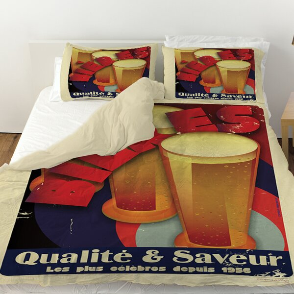 Bieres Qualite and Saveur Duvet Cover by Manual Woodworkers & Weavers