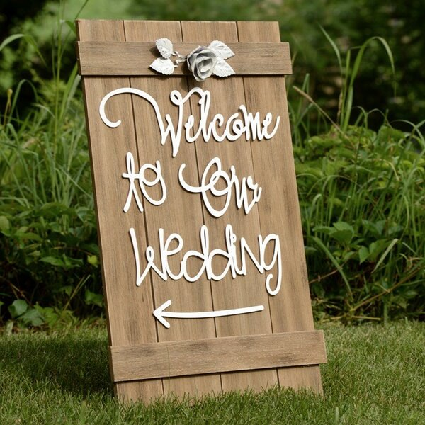 Welcome to Our Wedding Sign by Boston International