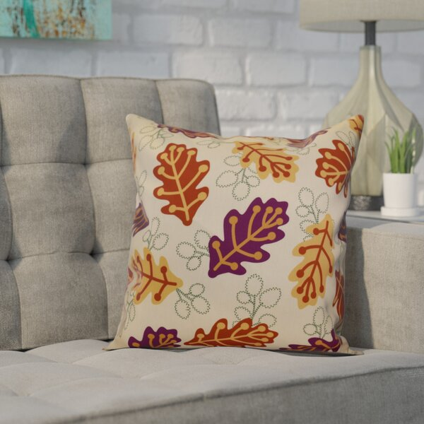 Balinas Retro Leaves Floral Throw Pillow by Winston Porter
