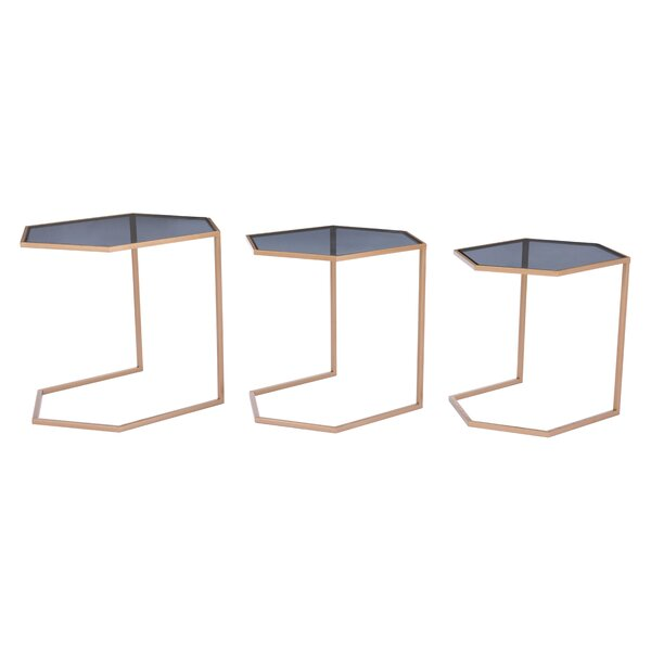 Leaman 3 Piece Nesting Table Set by Everly Quinn