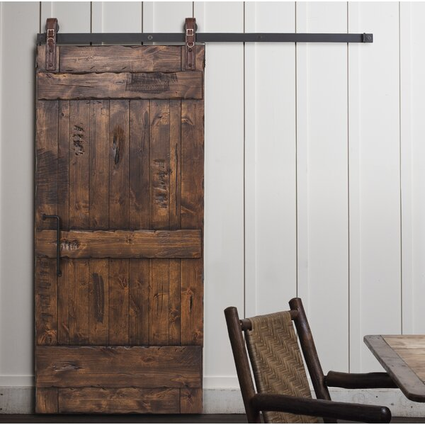 Ranch Solid Wood Interior Barn Door by Rustica Hardware