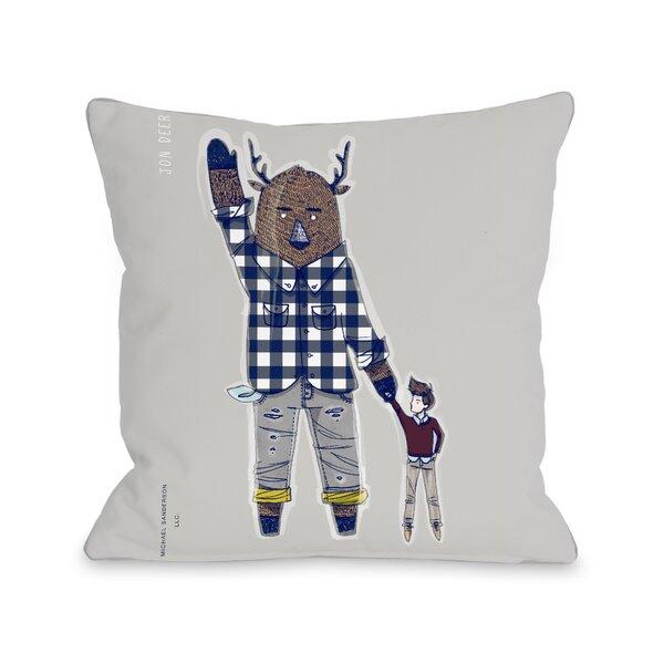 Jon Deer Throw Pillow by One Bella Casa