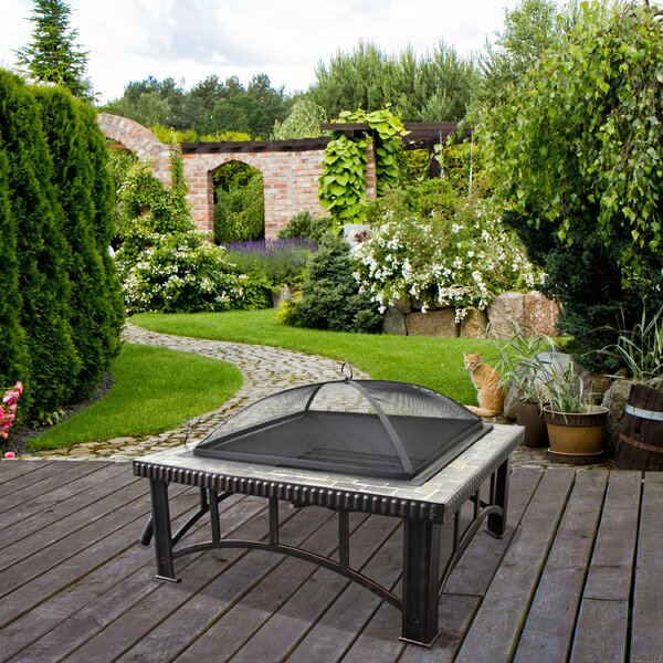 Cast Iron Wood Burning Fire Pit Table by Astella