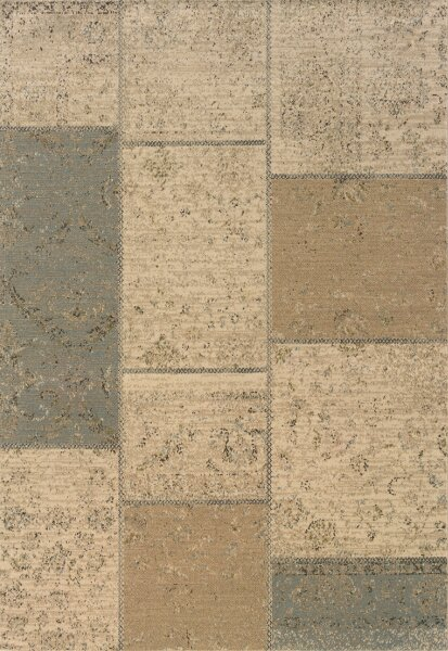 Schaumburg Tan/Blue Area Rug by Red Barrel Studio