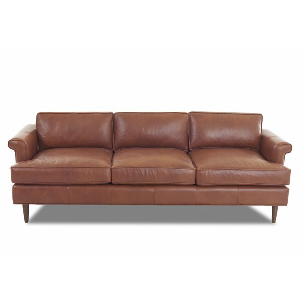 Carson Leather Studio Sofa by DwellStudio