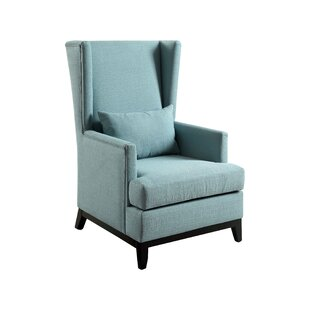Best Reviews Amory Wingback Arm Chair by Hokku Designs