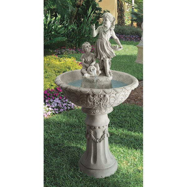 Resin Children Sculptural Fountain by Wildon Home ®