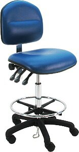 Cleanroom Lab Upholstered Waterfall Drafting Chair by Symple Stuff