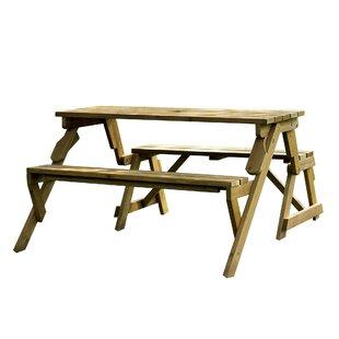 Baton Rouge Convertible Wood Picnic Table U0026 Garden Bench
