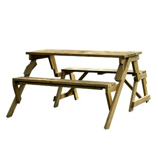 Dreiling Convertible Wood Picnic Table U0026 Garden Bench