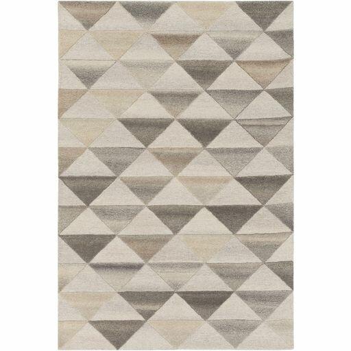 Pucklechurch Hand-Tufted Cream/White Area Rug by Wrought Studio