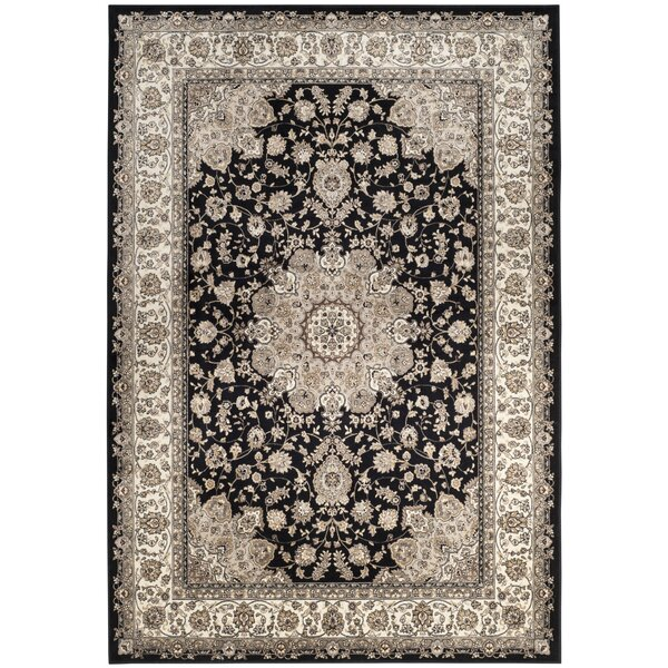 Carolus Black/Ivory Area Rug by Darby Home Co