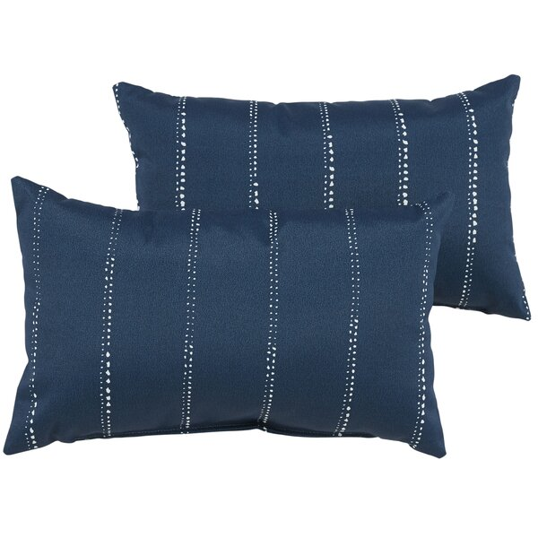 Balentine Outdoor Lumbar Pillow (Set of 2) by Wade Logan