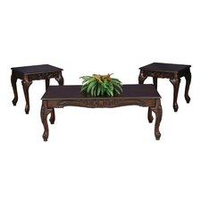Elaborate 3 Piece Coffee Table Set by Brady Furniture Industries