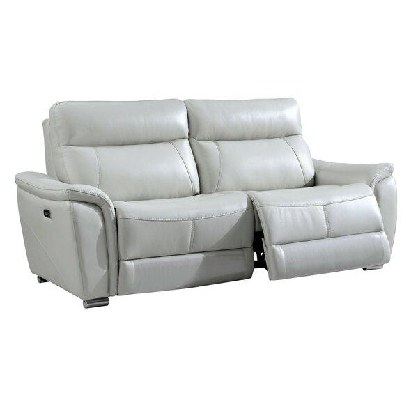 Smith-Ehrlich Leather Reclining Sofa By Orren Ellis