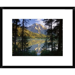 Mt Moran and String Lake, Grand Teton National Park, Wyoming by Tim Fitzharris Framed Photographic Print by Global Gallery