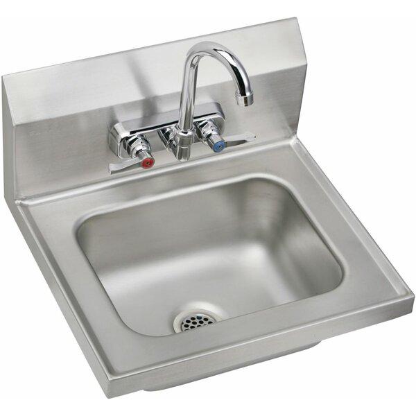Metal 16 Wall Mount Bathroom Sink by Elkay